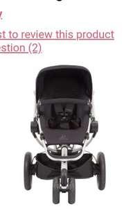 Quinny Buzz Xtra 2.0 3 Wheel Stroller - Rocking Black