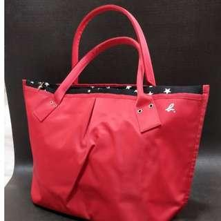 Agnes B bag - Red with stars lining