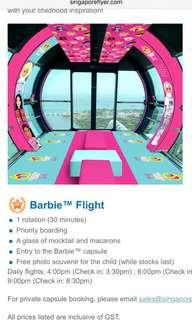 Barbie's Flight Singapore Flyer Tix