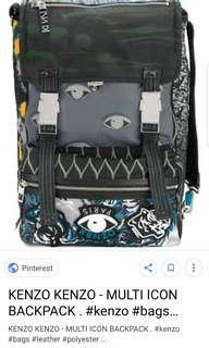Kenzo back pack multi icon