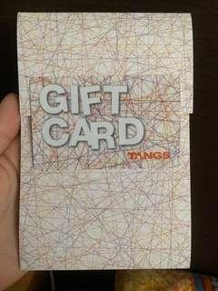 SELLING Brand New Tangs Gift Card $120 Value
