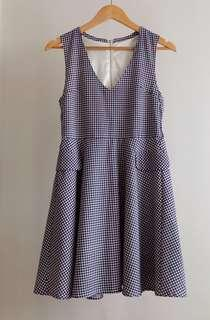 Checkered Dress (M-L)