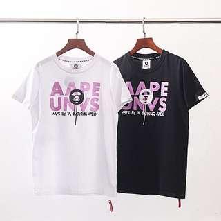 AAPE By A Bathing Ape UNVS(universe) T shirt