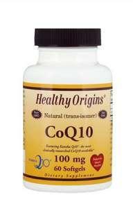 Healthy Origins, CoQ10, Kaneka Q10, 100 mg, 60 Softgels