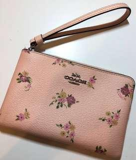 Authentic Coach Wristlet Pouch pink floral