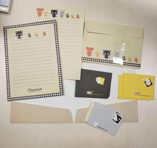 Chococat Letter set (6 big & 5 small sheets, 3 big & 5 small envelopes)