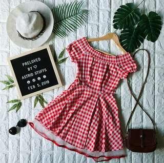 Semi Off Shoulder Dress