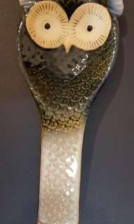 Owl chinaware - soup ladle holder 貓頭鷹瓷器湯殼座