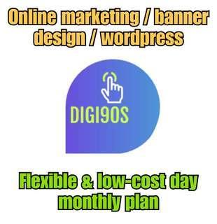 Online marketing / banner design / wordpress