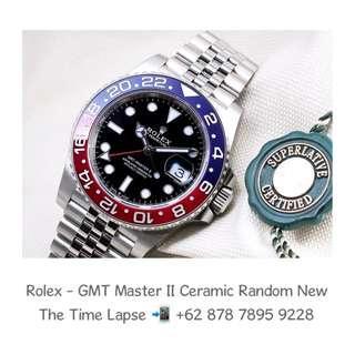 Rolex - GMT Master II Ceramic Blue Red 'Random' (New in Box)