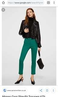 New! MANGO Crop slim-fit pants