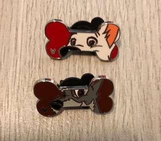 最新迪士尼徽章 Dog Pin Disney game pin 狗仔骨頭 遊戲襟章