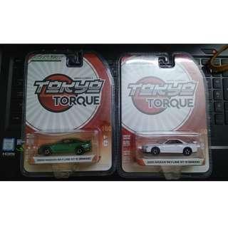 Greenlight 1/64 tokyo torque Nissan skyline gtr r34