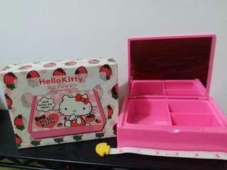 1976,2011 Sanrio Hello Kitty 粉紅 鏡盒 手飾盒 多用途盒