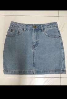 🚚 F21 Light washed denim skirt