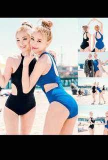 🚚 Black halter cut out one piece swimsuit