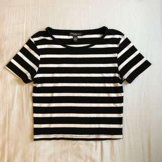 B&W crop t-shirt