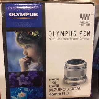 🚚 Olympus 45mm f1.8 lens Black