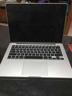 MacBook Pro retina display, 13 inch, mid 2014