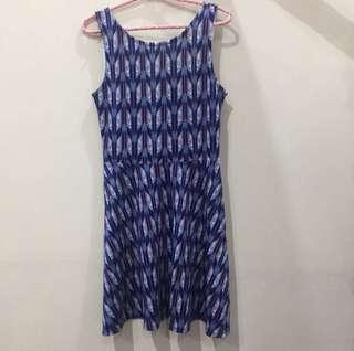H&m casual blue dress