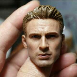 1/6 scale captain america steve roger head sculpt