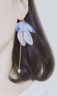 🚚 Butterfly wing earrings (hook)