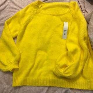 Yellow sweater from Korea