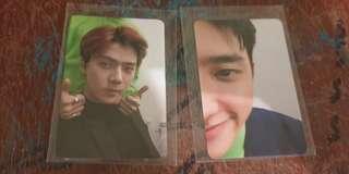 Loveshot EXO Sehun and Kyungsoo photocard