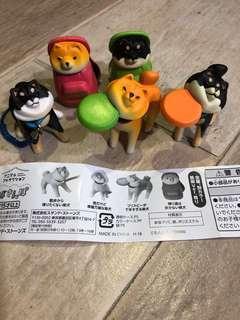 🚚 Shiba inu gachapon toy gasha shibe doge figurine capsule