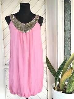 Imported Pink Loose Dress