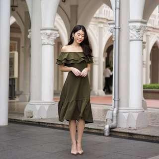 🚚 Ally Ruffle Drop Hem Dress