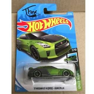 Hot Wheels '17 Nissan GT-R (R35) - Guaczilla.