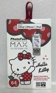 PhotoFast Hello Kitty蘋果microSD 64g