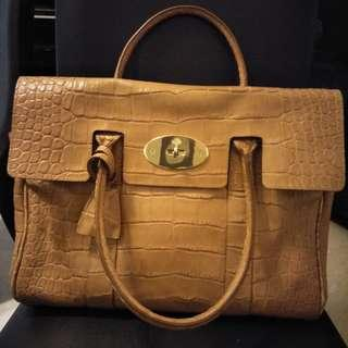 Authentic Mulberry Bayswater - Embossed Croc Skin / Beige