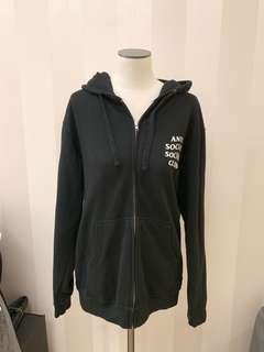 Anti social social club sweater jacket assc