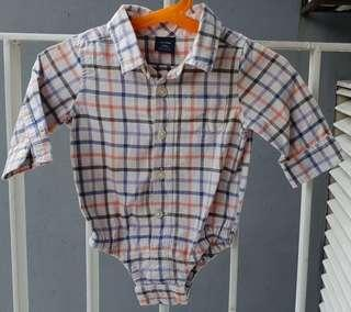 BabyGAP checkered Rompers
