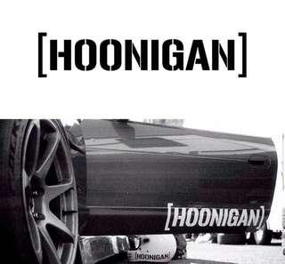 25*5.5cm Car Styling HOONIGAN Sticker Ken Block Rally Racing Drift Vinyl JDM Auto Window Cool Fashion Decal Accessories