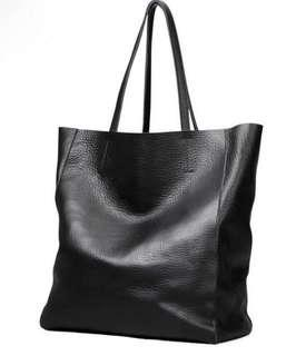 Black Leather Tote (NEW)