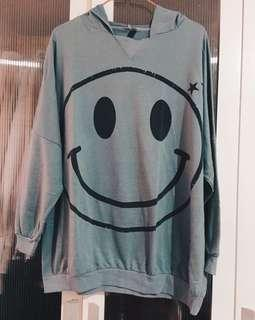 Smiley shirt with hoodie #MMAR18