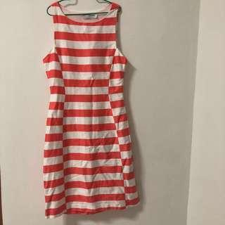 🚚 Love Bonito Coral Striped Dress