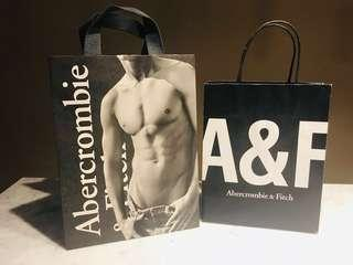 Abercrombie & Fitch Paper Bag x 2