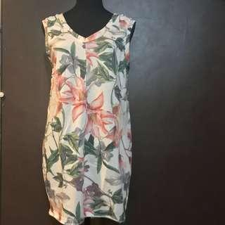 Bershka Floral Canvas Dress