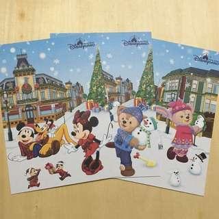 Hong Kong Disneyland Xmas postcard 2018 香港迪士尼明信片