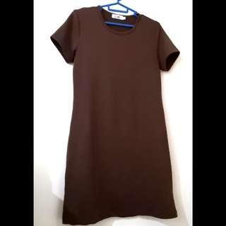 Tized brown shift dress #MMAR18