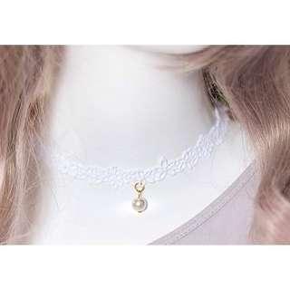 🚚 純白牛奶絲珍珠💕手工 頸鏈 鎖骨鏈 項鍊