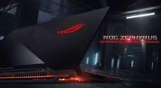 ROG Zephyrus GX501 i7 7700HQ 16GBram 500gb samsung 970evo ssd GTX 1070MAX-Q 120HZ