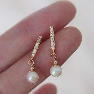 🔸簡約大方🔸單一淡水珍珠耳環🔸