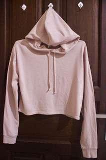 H&M Cropped Pink Hoodie