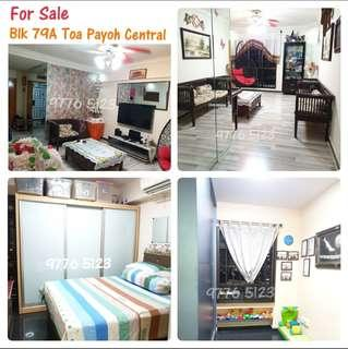 ★ Blk 79A Toa Payoh Central 4-room HDB for Sale★3 Mins walk to MRT station