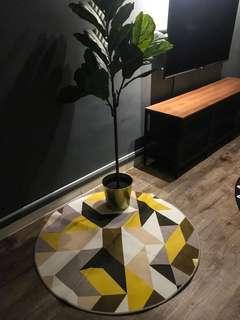 Nordic round carpet